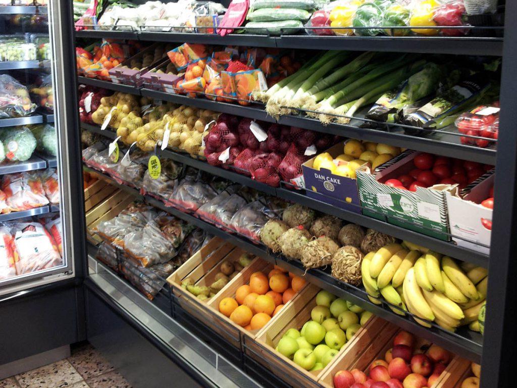 billede af frugt og grønt afdeling
